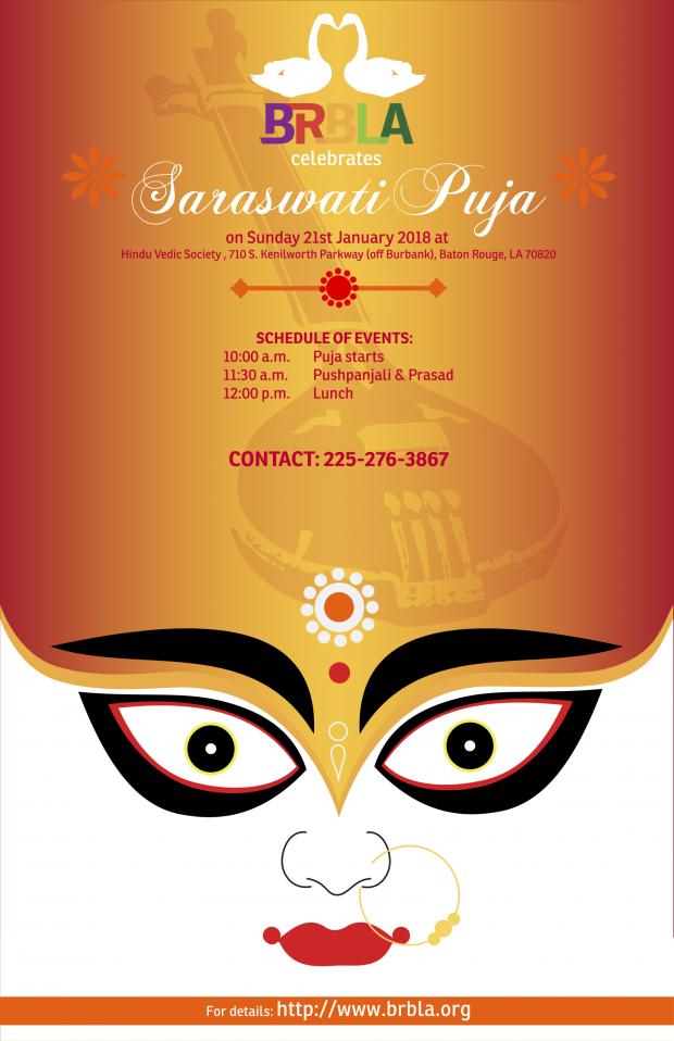 2018_Saraswati Puja Poster